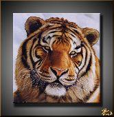 Оранжевый тигр, картина, Модерн животный мир №52