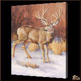 Олень зимой, картина, Модерн животный мир №60
