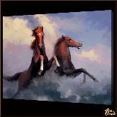 Кони на дыбах, картина, Модерн животный мир №65