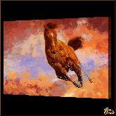 Рыжая лошадь, картина, Модерн животный мир №68