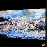 Лошади у моря, картина, Модерн животный мир №76