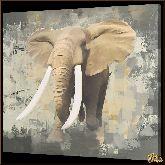 Серый слон, картина, Модерн животный мир №7