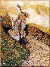 Два зайца, картина, Модерн животный мир №80