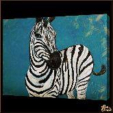 Зебра на природе, картина, Модерн животный мир №82