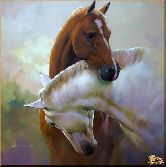 Лошадиная нежность, картина, Модерн животный мир №88