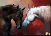 Любовь и лошади, картина, Модерн животный мир №89