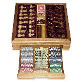 Большой игровой набор из березы: шахматы, шашки, нарды, домино, карты, кости, покерные фишки