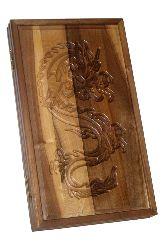 Резные нарды из массива ореха