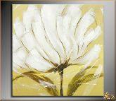 Белый живописный цветок, картина, Модерн цветы №13
