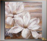 Белых два цветка, картина, Модерн цветы №14