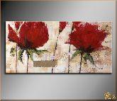 Цветы красные, картина, Модерн цветы №19