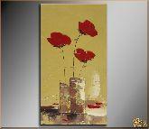 Красные цветы, картина, Модерн цветы №2
