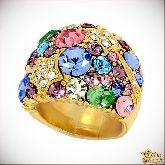 Кольцо с кристаллами Сваровски IR0015, размер 16