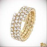 Кольцо с кристаллами Сваровски IR0040G, размер свободный