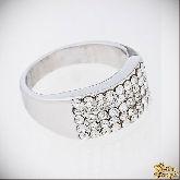 Кольцо с кристаллами Сваровски IR0041, размер 16,5, 17, 17,5