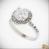 Кольцо с кристаллами Сваровски IR0043W, размер свободный