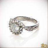 Кольцо с кристаллами Сваровски IR0050, размер 16,5