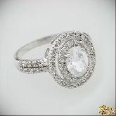 Кольцо с кристаллами Сваровски IR0051, размер свободный