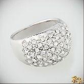 Кольцо с кристаллами Сваровски IR0060, размер 18,0