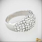 Кольцо с кристаллами Сваровски IR0063, размер 17,5