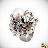 Кольцо с кристаллами Сваровски IR0101, размер 18,0