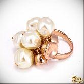 Кольцо с кристаллами Сваровски IR0103G, размер свободный
