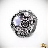 Кольцо с кристаллами Сваровски IR0104, размер свободный