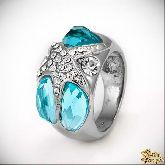 Кольцо с кристаллами Сваровски IR0107B, размер 17,5