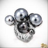 Кольцо с кристаллами Сваровски IR0109R, размер 17,0