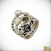 Кольцо с кристаллами Сваровски IR0110, размер 18,0