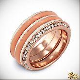 Кольцо с кристаллами Сваровски IR0111, размер 18,0