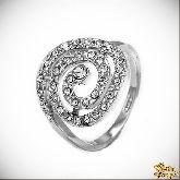 Кольцо с кристаллами Сваровски IR0113, размер 17,5, 18