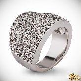 Кольцо с кристаллами Сваровски IR0114, размер 18,0