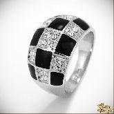 Кольцо с кристаллами Сваровски IR0115, размер 18,0