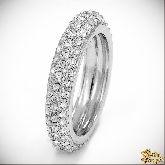 Кольцо с кристаллами Сваровски IR0116, размер 16, 17, 18