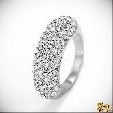 Кольцо с кристаллами Сваровски IR0121, размер 17,0