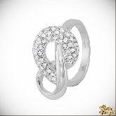 Кольцо с кристаллами Сваровски IR0126, размер 17,5