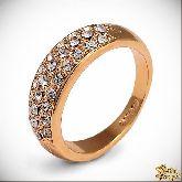 Кольцо с кристаллами Сваровски IR0136G, размер 18,0