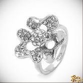 Кольцо с кристаллами Сваровски IR0141, размер 17,5