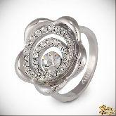 Кольцо с кристаллами Сваровски IR0146, размер 18,0