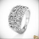 Кольцо с кристаллами Сваровски IR0153, размер 18,0
