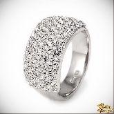 Кольцо с кристаллами Сваровски IR0156, размер 17,5