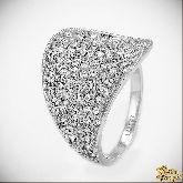 Кольцо с кристаллами Сваровски IR0158, размер 16, 17, 17,5