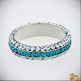 Кольцо с кристаллами Сваровски IR0160, размер 18,0
