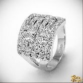 Кольцо с кристаллами Сваровски IR0161, размер 18,0