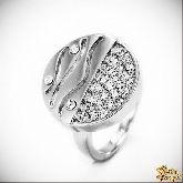 Кольцо с кристаллами Сваровски IR0170, размер 18,0