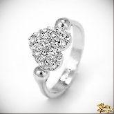 Кольцо с кристаллами Сваровски IR0175, размер 18,0