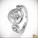 Кольцо с кристаллами Сваровски IR0176, размер 18,0