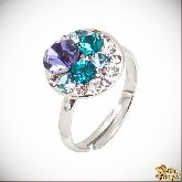 Кольцо с кристаллами Сваровски IR0186B, размер 17,5