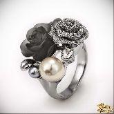 Кольцо с кристаллами Сваровски IR0187, размер 17,5